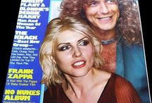 Robert Plant of Led Zeppelin with Debbie Harry on cover of…