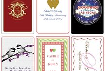 Wedding Playing Cards / Wedding playing cards can provide a lasting memory of your wedding for you and your guests. These cards are available through TMCARDSDOTCOM in many designs and colors.