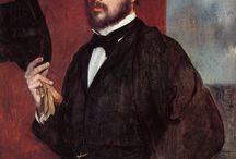 Эдгар Дега (Edgar Degas) 1834-1917 / Французский художник, скульптор, график.  Признанный мастер изображения фигуры человека в движении.