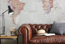 Map & Travel Room / by Charlotte Featherston