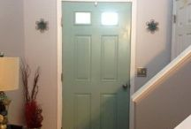 I painted the inside of my front door…and LOVE it!! / All about www.CouponWithCents.com
