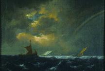 painting - jacob van ruisdael / la natura è vista sulla scorta di Hercules Seghers e di Rembrandt, soprattutto come paesaggio interiore, rivelazione di uno spirito inquieto e romantico