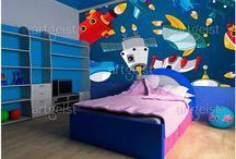 Tableaux, Papiers peints & stickers pour enfants / Tableaux, Papiers peints & stickers pour enfants - original deco murale