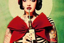 Houtkamp, tattoo, burlesque / Houtkamp, tattoo, burlesque illustration