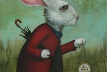 "Go Ask Alice / ""Those distractions that turn my attention from what I thought I was going to do today are not ""rat holes""; they are Enchanted Rabbit Holes with a Magical White Bunny awaiting in each."" - Jonathan Lockwood Huie  / by Patricia Parden"