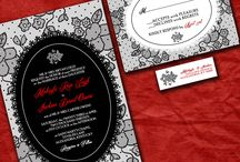 Black and Red Lace  Wedding