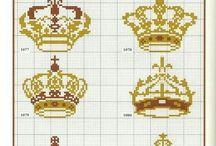 Crown pattern / Cross stich Small patterns