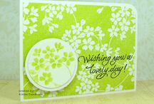 """Stamp:Glory of Modesty / These handmade cards feature the negative stamp """"Glory of Modesty"""" by Penny Black."""