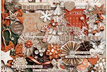 {Once Upon A Christmas} Digital Scrapbook Kit by Aprilisa Designs
