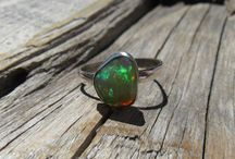 Opal Rings / Opal Rings handcrafted in solid gold or sterling silver with genuine Opals. Group board - reach out to us to be added!