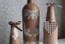 Dekoratif şişe boyama