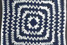 Crochet: Afgan & motif squares
