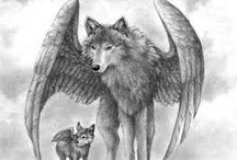 Winged Wolves / A place where you can let your imagination run free with the legends of the wolf.