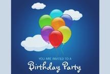Birthday party invitation / Pozvánky na narozeninové párty