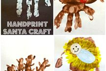 Christmas Hand + Foot Print Art / Cute, simple and fun ways to document our kids this Christmas.
