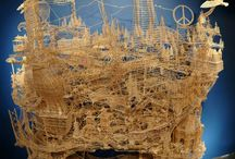 Sculptures Using Toothpicks / If I Gave You 50 Chances, You Still Wouldn't Have Guessed What He Did With Toothpicks. A city sight-seeing at times gets so time consuming & cumbersome. Ever wondered how can you cut down on time and yet see an entire city. Well, San Francisco based Scott Weaver has certainly made it possible.  Scott has created this sculpture using only toothpicks that displays every landmark of the city of San Francisco. This masterpiece is a result of 34 years of hard work and dedication from Scott.
