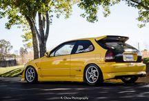 yellow honda b&m