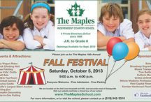The Maples Fall Festival / Oct5th 2013 is our 16th Annual Fall Festival Featuring - Free Admission, Free Parking Huge Silent Auction, Free Kids Crafts Wagon Rides, Rock Climbing Wall, Craft Sale, Bake Sale, Free Pumpkin Decorating, Face Painting Something fun for the entire family!