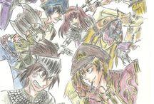 Old Drawings / Seleção de desenhos antigos, feitos desde 2010 até 2014