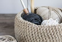 Home knitted decoration