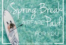 Slickest Spring Break Travel Tips / Slickdeals Pinterest board  with the best money-saving tips for spring break travel.