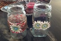 Arts and crafts / Recycled jars