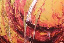 Astratti by Gattonero / quadri, serie degli astratti. tecnica mista su tela.