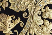 broderies d'or / fil d'or broderie de vêtements, bijoux, bijoux fantaisie