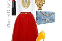 flared skirt / Loving and styling flared