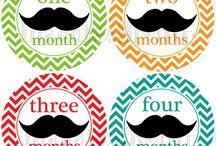 Mustache baby boy