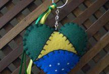 chaveiro com bandeira do Brasil