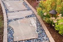 River stone walkway ideas