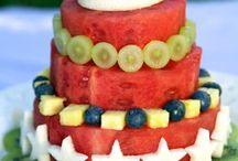 Фруктовое - торты, десерты, нарезки, горки и тд