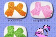 crochet slipper and booties
