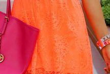 Fashion / Orange Dress Styles