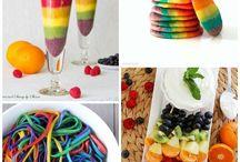 Rainbow food and themes