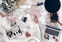 Travel flatlays
