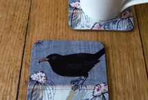 Jo's Coasters and Placemats / Printed homewares: high quality prints of Jo's original handmade textile designs...  Commissions welcome!  Please visit www.johilltextiles.co.uk for more details