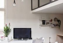 Glas wall black frames