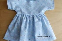 couture vêt de poupée