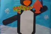 Pinguini / Attività per il gruppo dei bambini di quattro anni