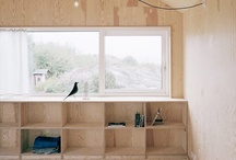 Plywood shelves