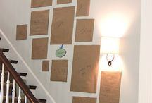 stairs photoframes