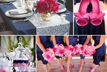 Hot pink party decoration