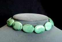Stone Beads > Variscite Beads / Natural Variscite beads in a variety of shapes and sizes.