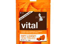 Soft & Chewy Dog Treats / Our functional treats feature delicious, nutritious blends of fruits, vegetables, herbs and whole grains to help support your dog's overall health & wellness.  All products at Isle of Dogs are carefully formulated through years of research and development.  We are devoted to producing innovative products that give all dogs the quality care they deserve.  We are proud to say Isle of Dogs products are all made in the USA, with USA sourced ingredients.