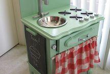 Kitchen child diy / Kuchnie dla malucha ;)