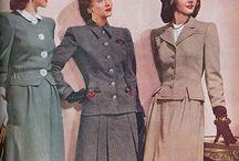 40-е -> История моды/ 40s fashion