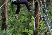 Äimätär - musta rata / Äimätär oli muinaissuomalaisille sisiliskojen kantaäiti ja suojelija. Huipun Äimätär alkaa vatsanpohjaa kutkuttavalla Tarzan-hypyllä ja päättyy huimaan loppuliukuun. Haasta itsesi! Challenge yourself! Do you dare to take the leap?  #treetop # adventure #hochseilgarten #highropes #course #seikkailu