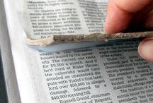 Tovaglietta con giornale
